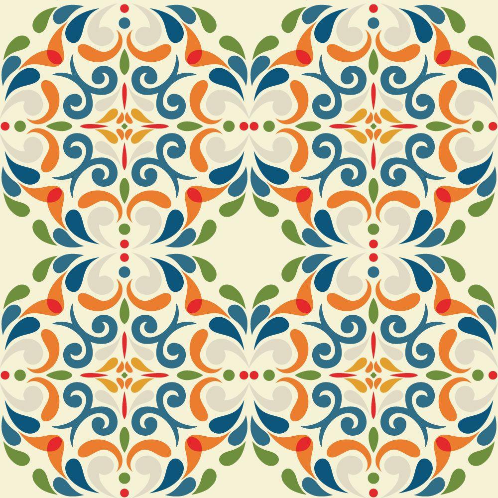 Papel de Parede para Cozinha Azulejos 0001 - Adesivos de Parede  - Paredes Decoradas