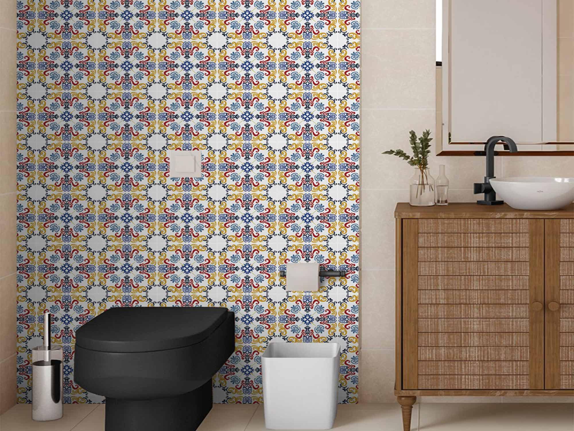 Papel de Parede para Cozinha Azulejos 0003 - Adesivos de Parede  - Paredes Decoradas