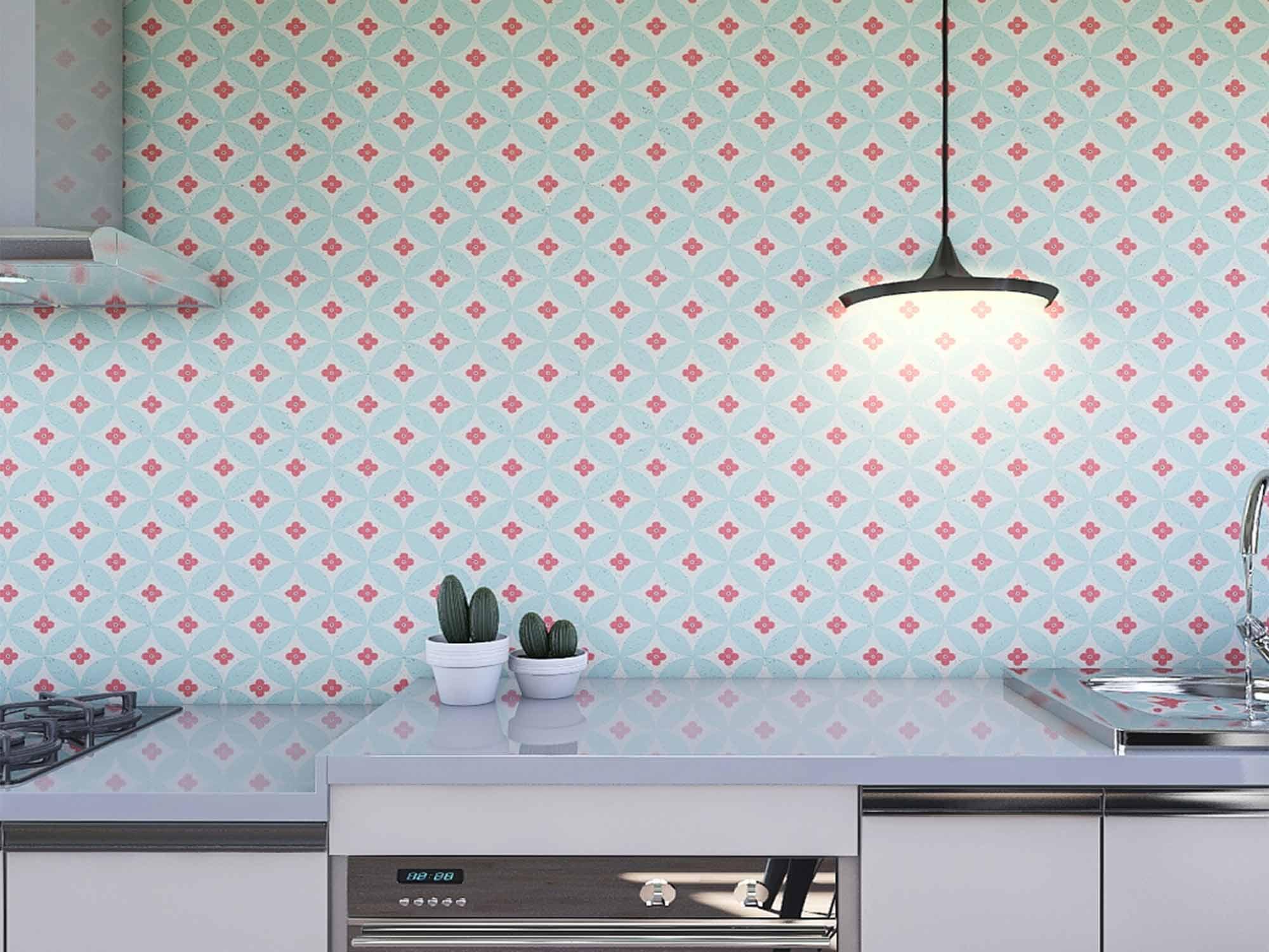 Papel de Parede para Cozinha Azulejos 0005 - Adesivos de Parede