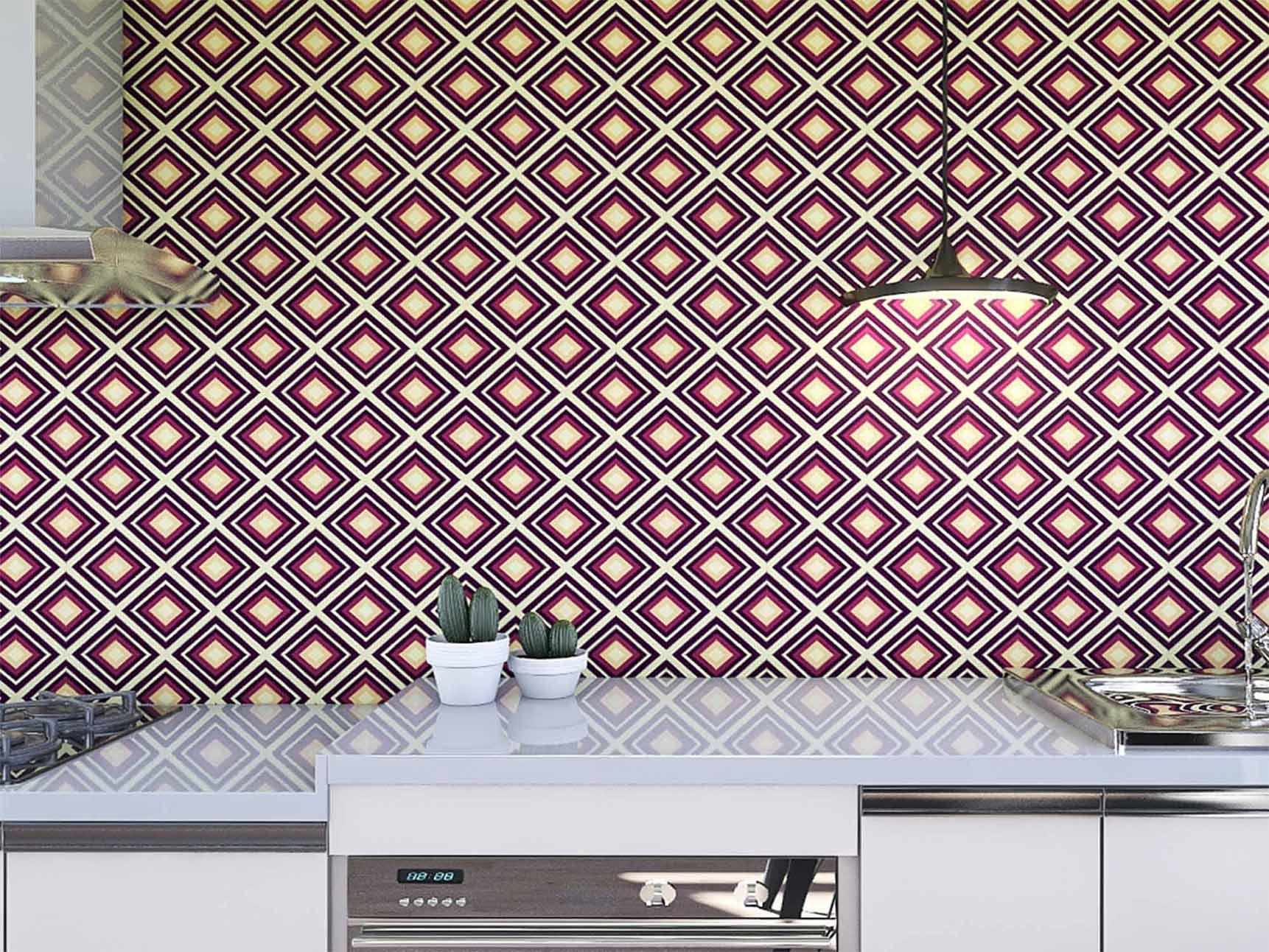 Papel de Parede para Cozinha Azulejos 0009 - Adesivos de Parede