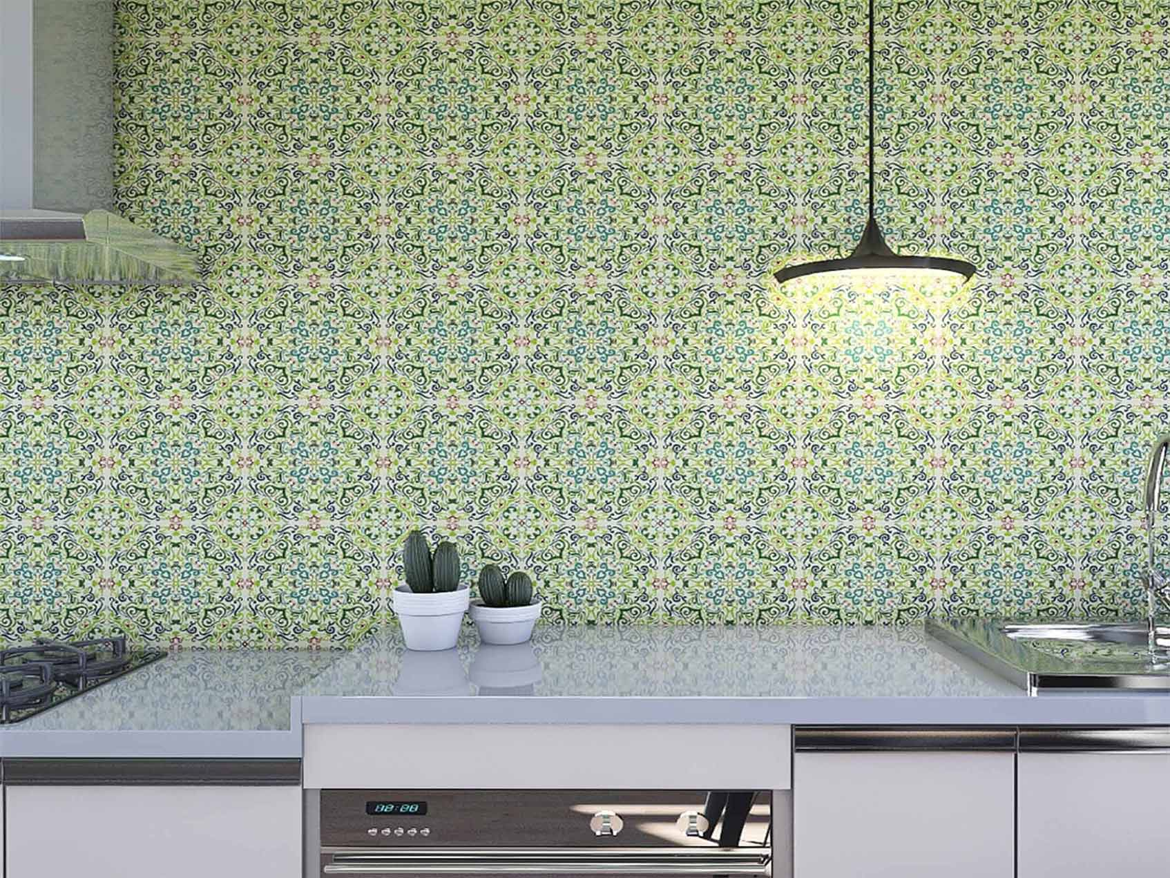 Papel de Parede para Cozinha Azulejos 0010 - Adesivos de Parede