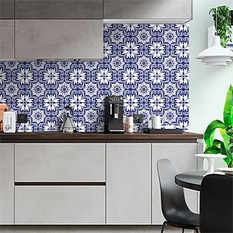 Papel de Parede para Cozinha Azulejos 0012 - Adesivos de Parede  - Paredes Decoradas