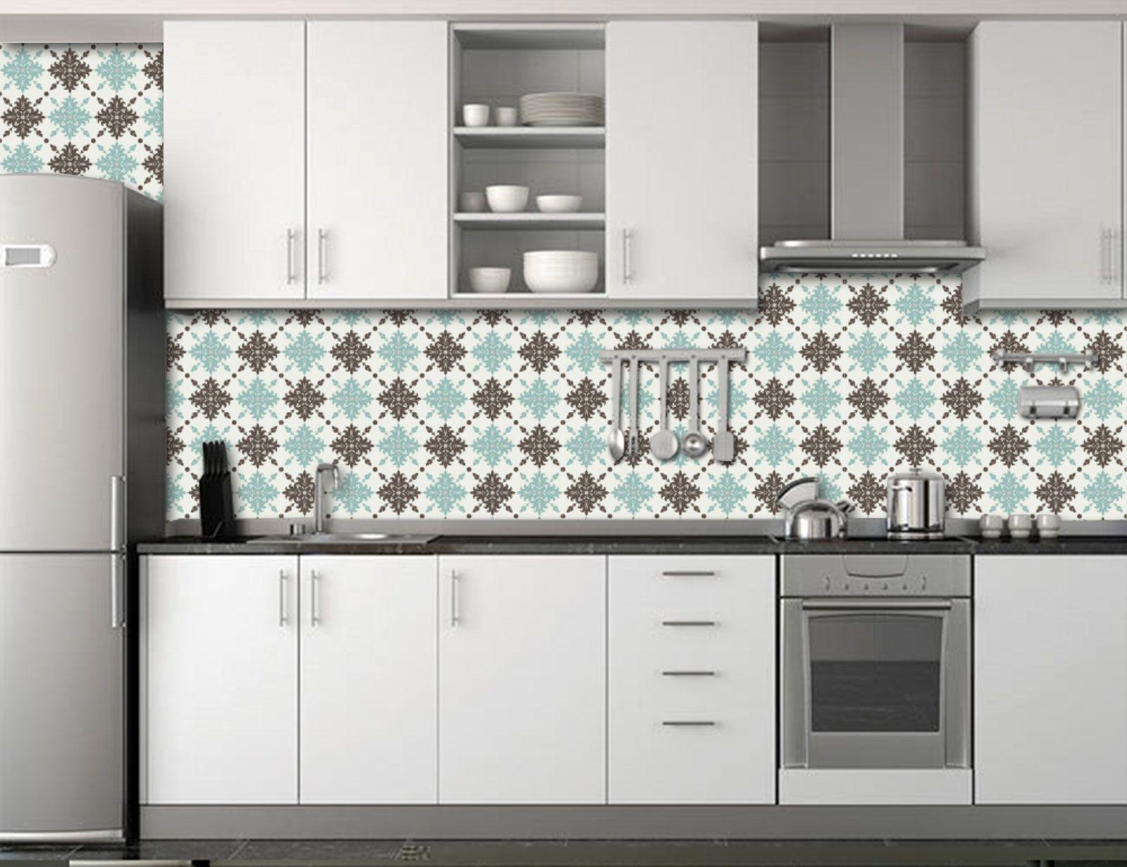 Papel de Parede para Cozinha Azulejos 0013 - Adesivos de Parede