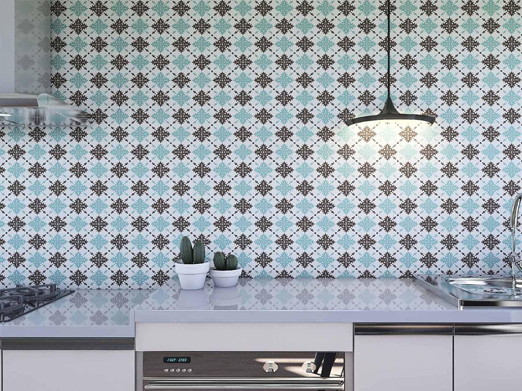 Papel de Parede para Cozinha Azulejos 0013 - Adesivos de Parede  - Paredes Decoradas