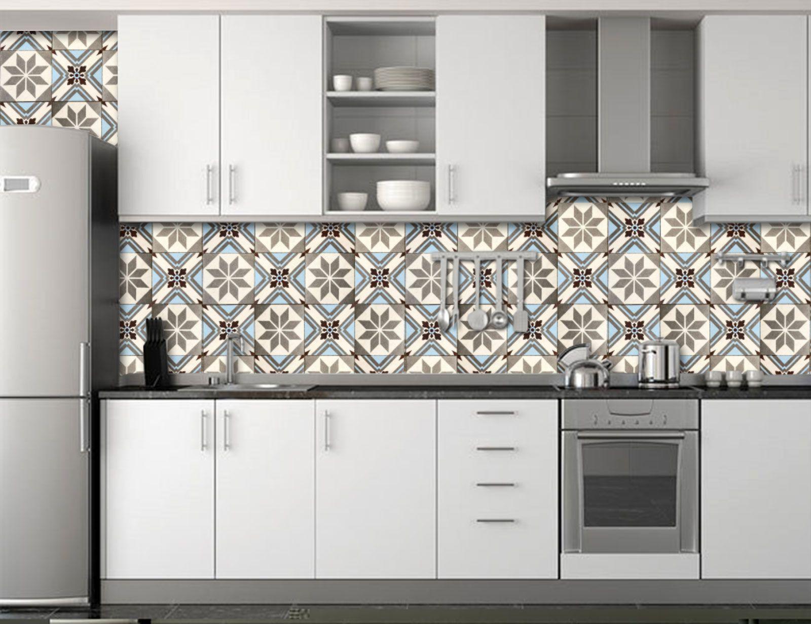 Papel de Parede para Cozinha Azulejos 0014 - Adesivos de Parede  - Paredes Decoradas