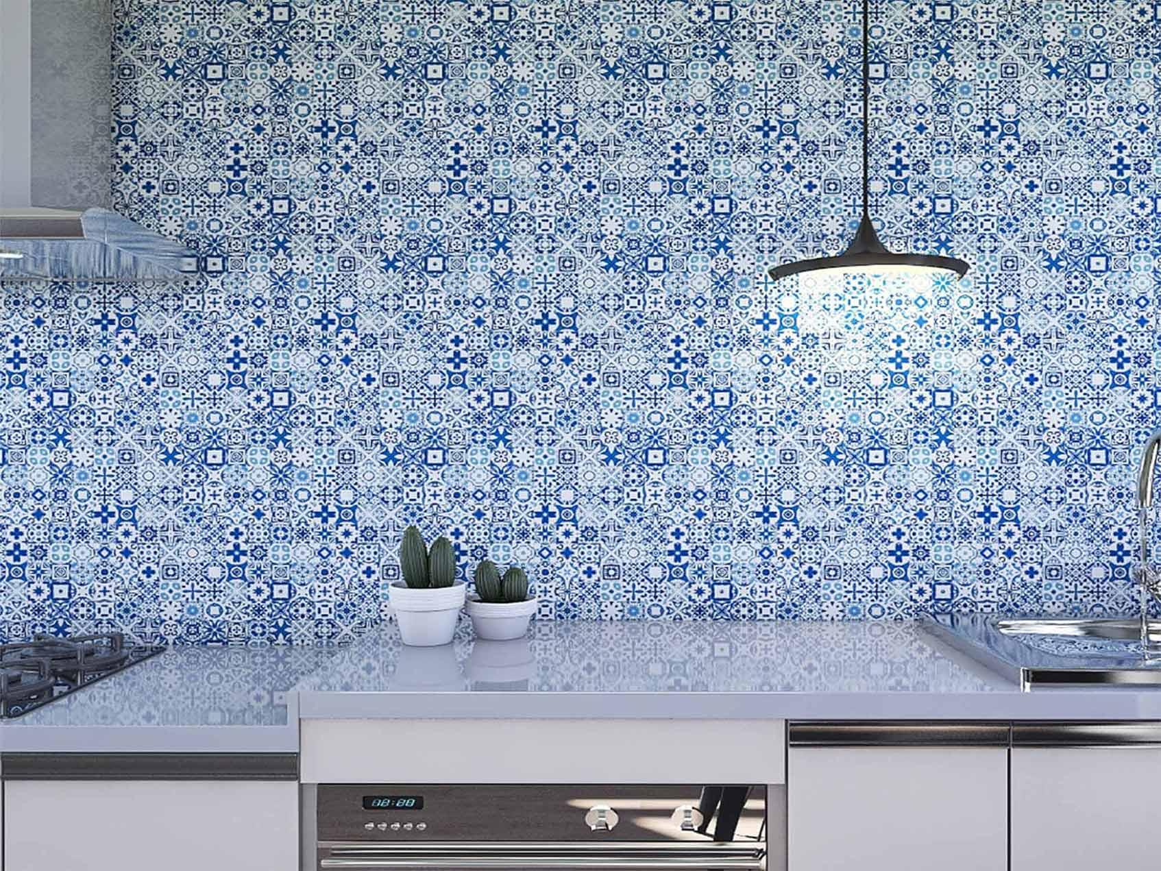 Papel de Parede para Cozinha Azulejos 0018 - Adesivos de Parede