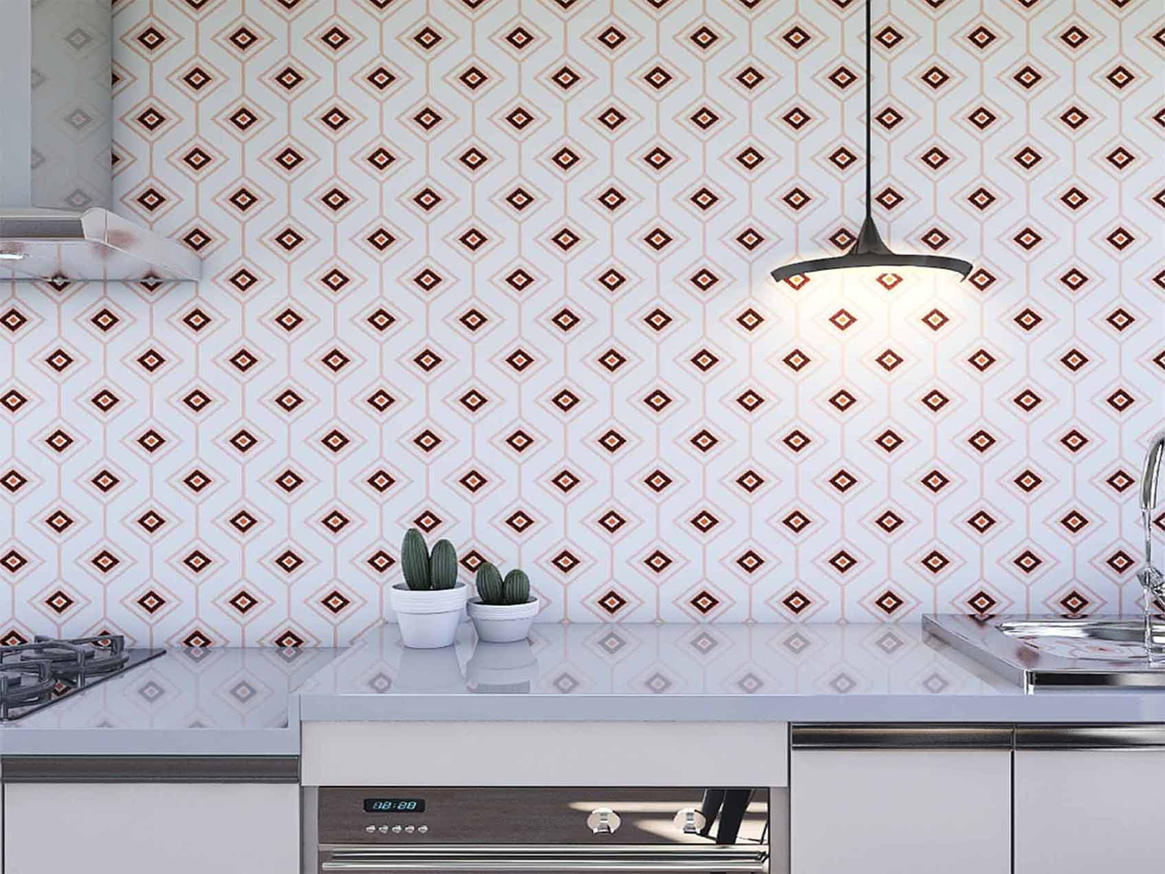 Papel de Parede para Cozinha Azulejos 0019 - Adesivos de Parede