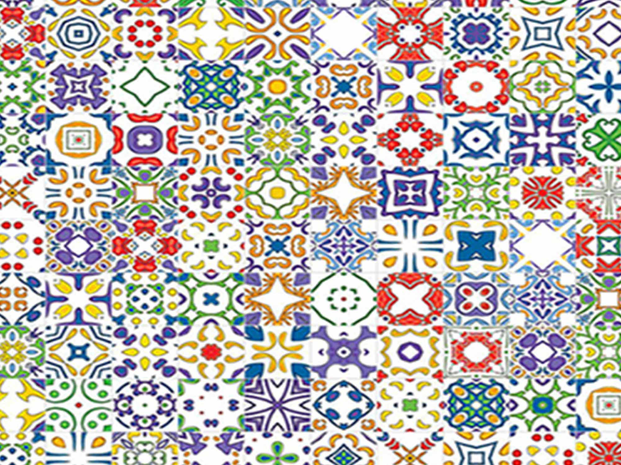 Papel de Parede para Cozinha Azulejos 0020 - Adesivos de Parede  - Paredes Decoradas