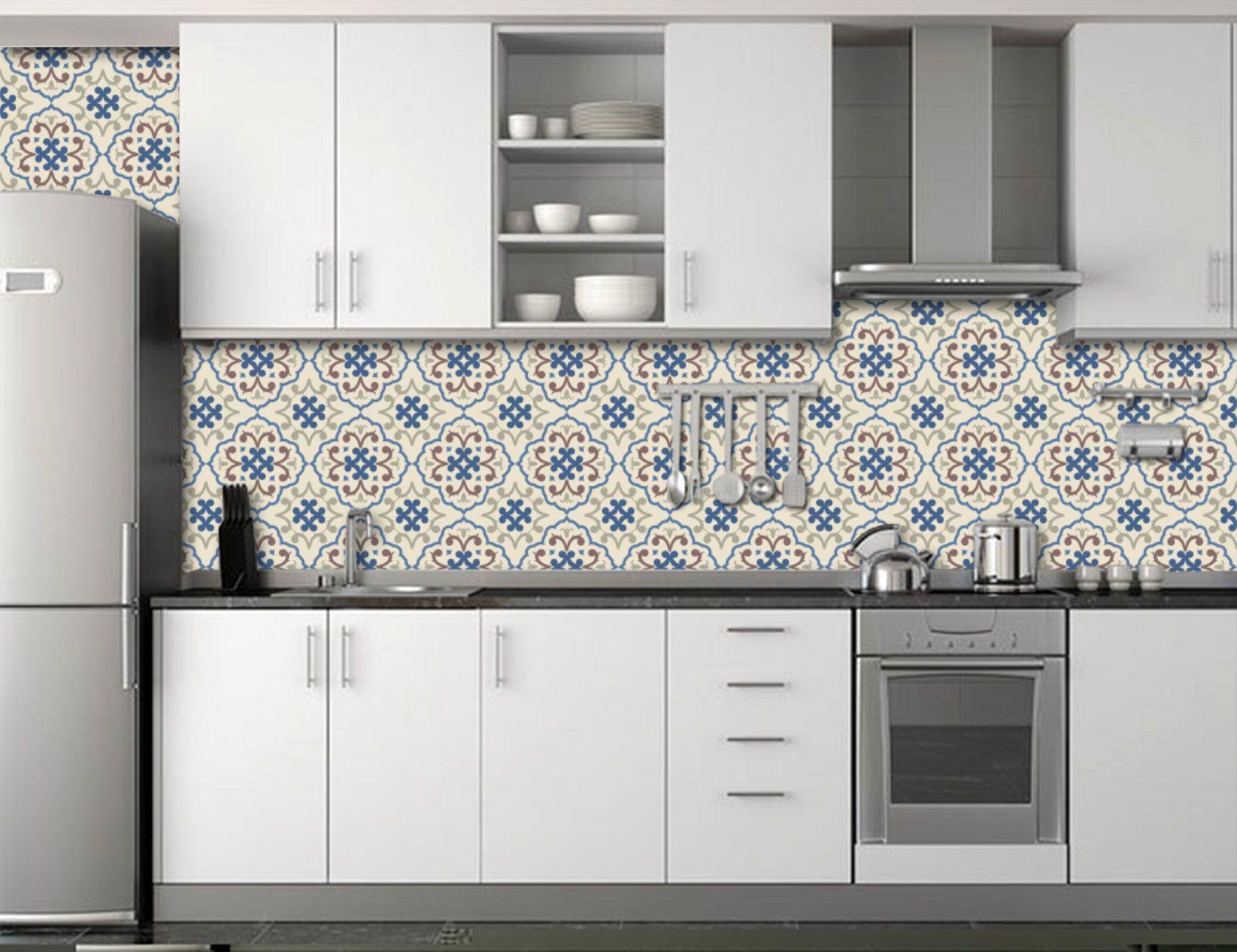 Papel de Parede para Cozinha Azulejos 0021 - Adesivos de Parede