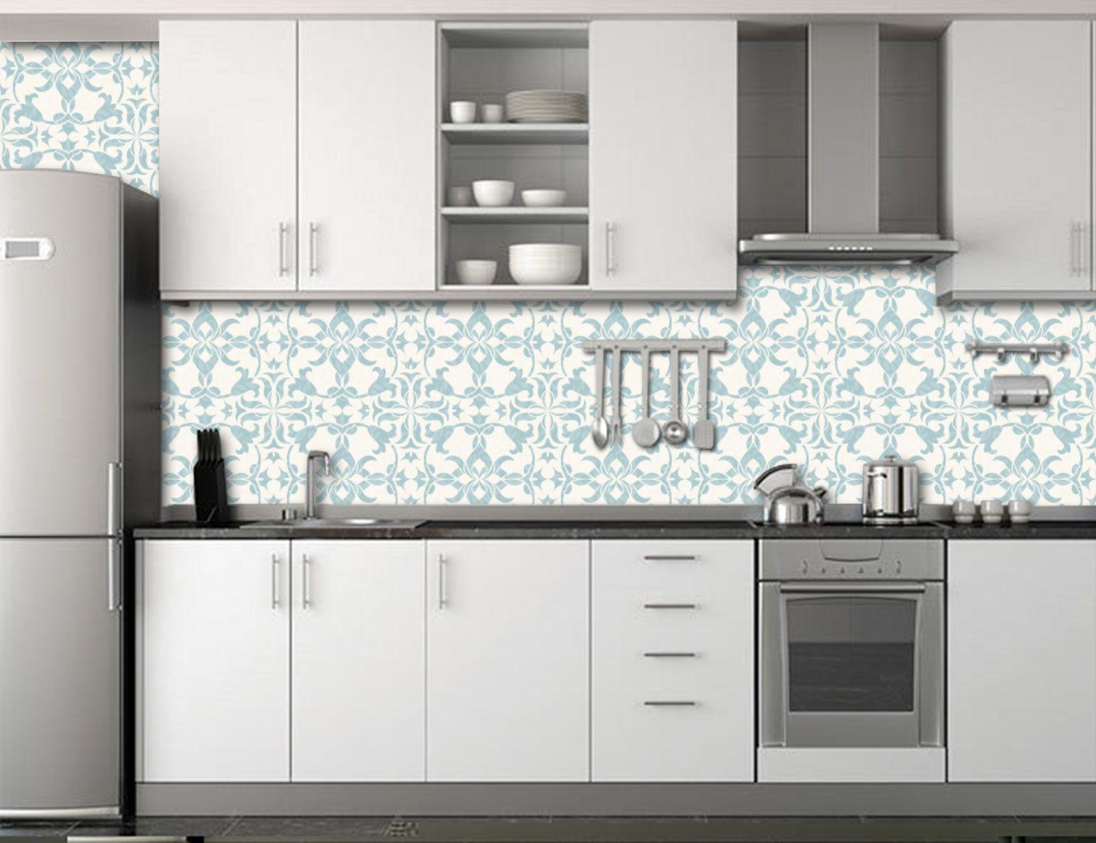 Papel de Parede para Cozinha Azulejos 0024 - Adesivos de Parede  - Paredes Decoradas