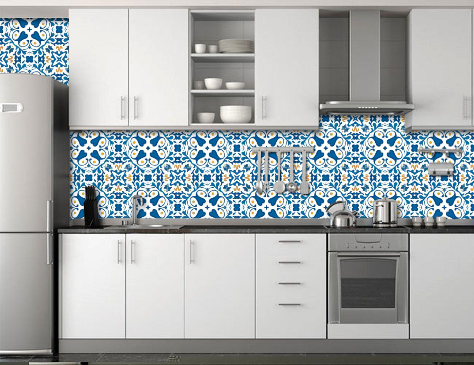Papel de Parede para Cozinha Azulejos 0026 - Adesivos de Parede  - Paredes Decoradas
