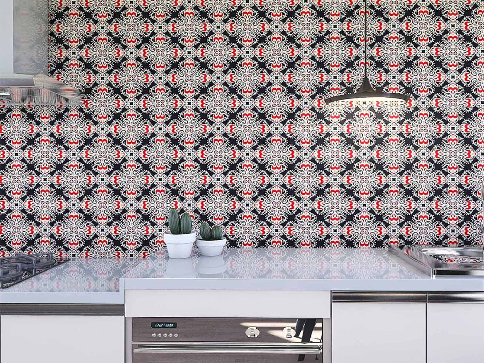 Papel de Parede para Cozinha Azulejos 0027 - Adesivos de Parede