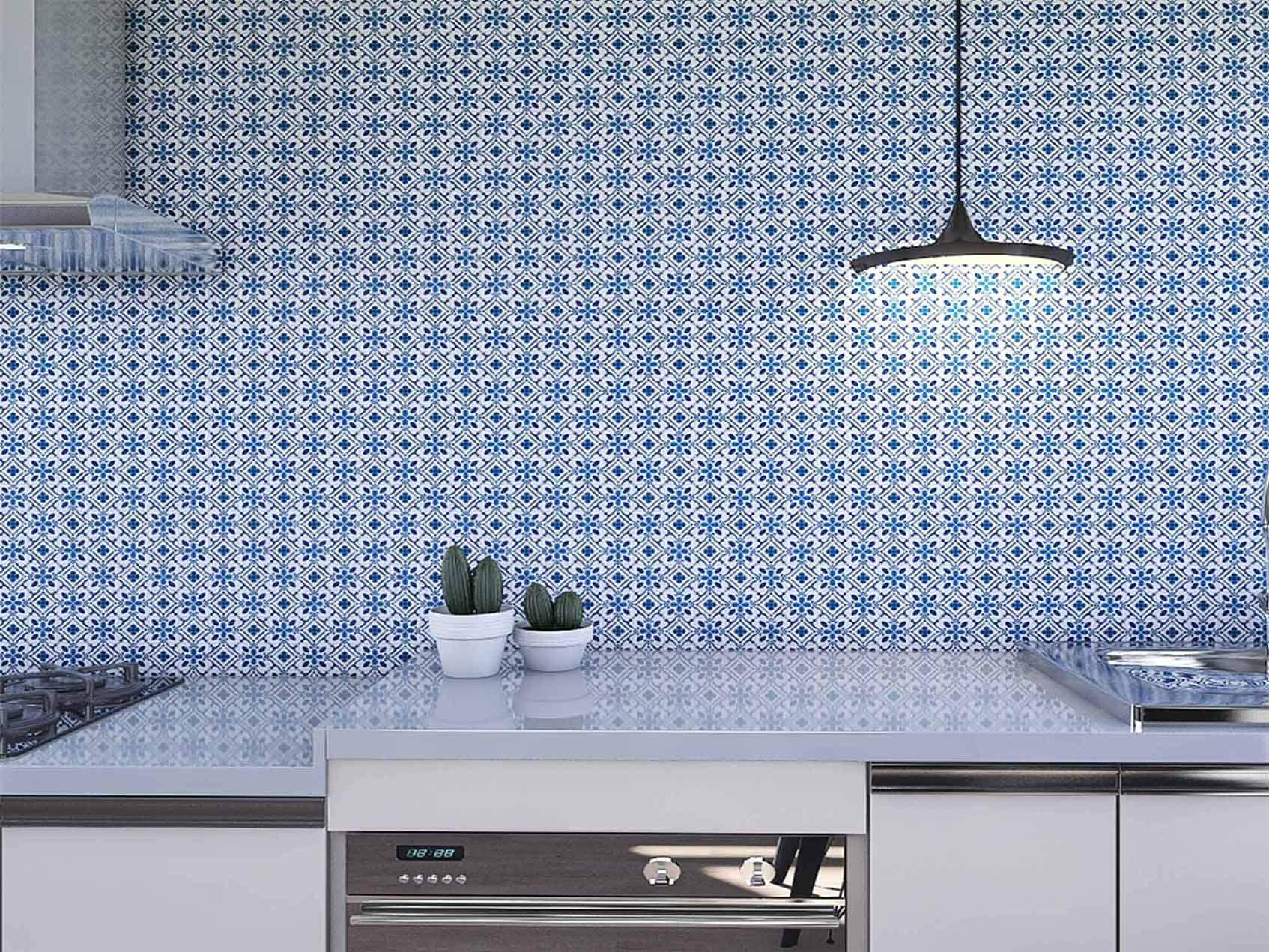 Papel de Parede para Cozinha Azulejos 0028 - Adesivos de Parede