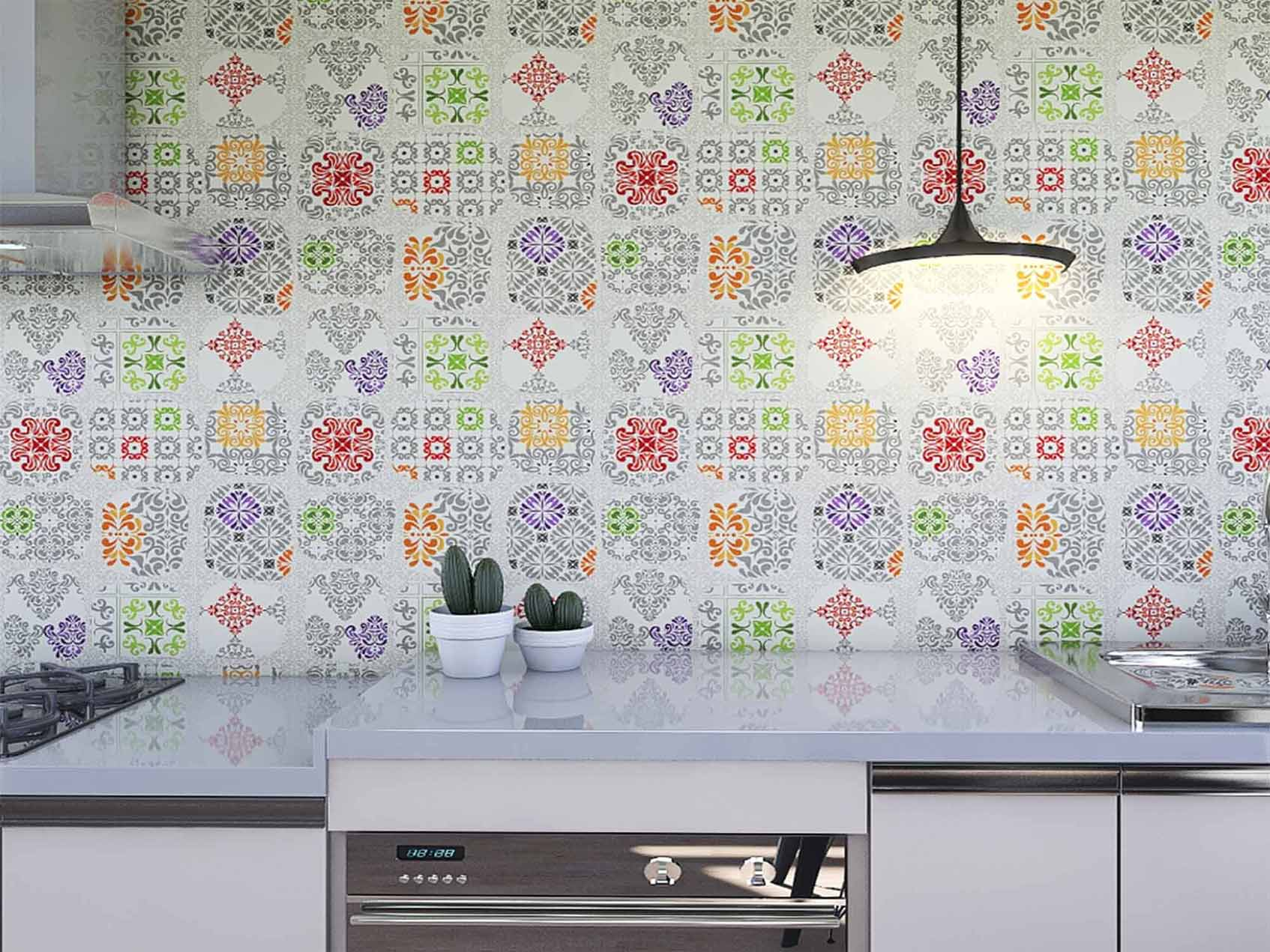 Papel de Parede para Cozinha Azulejos 0029 - Adesivos de Parede