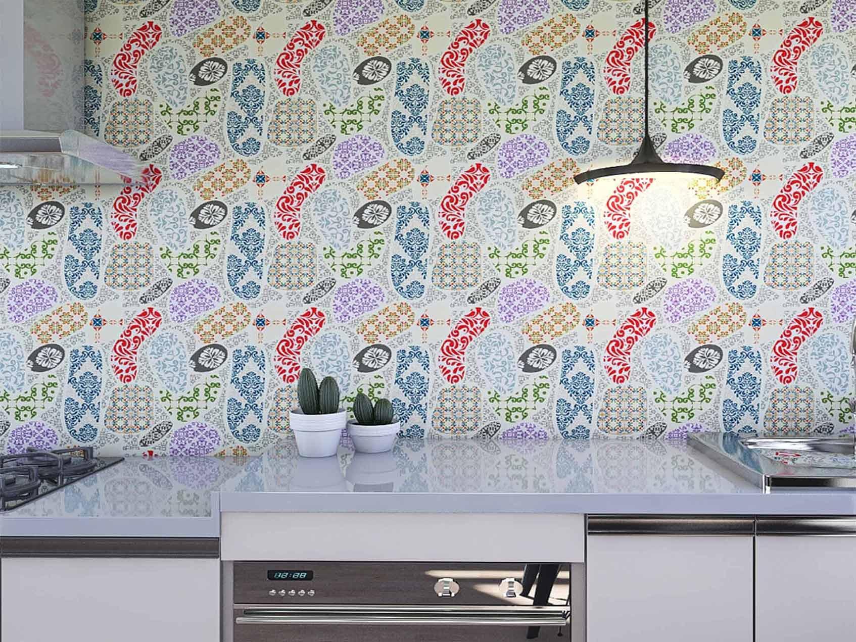 Papel de Parede para Cozinha Azulejos 0032 - Adesivos de Parede