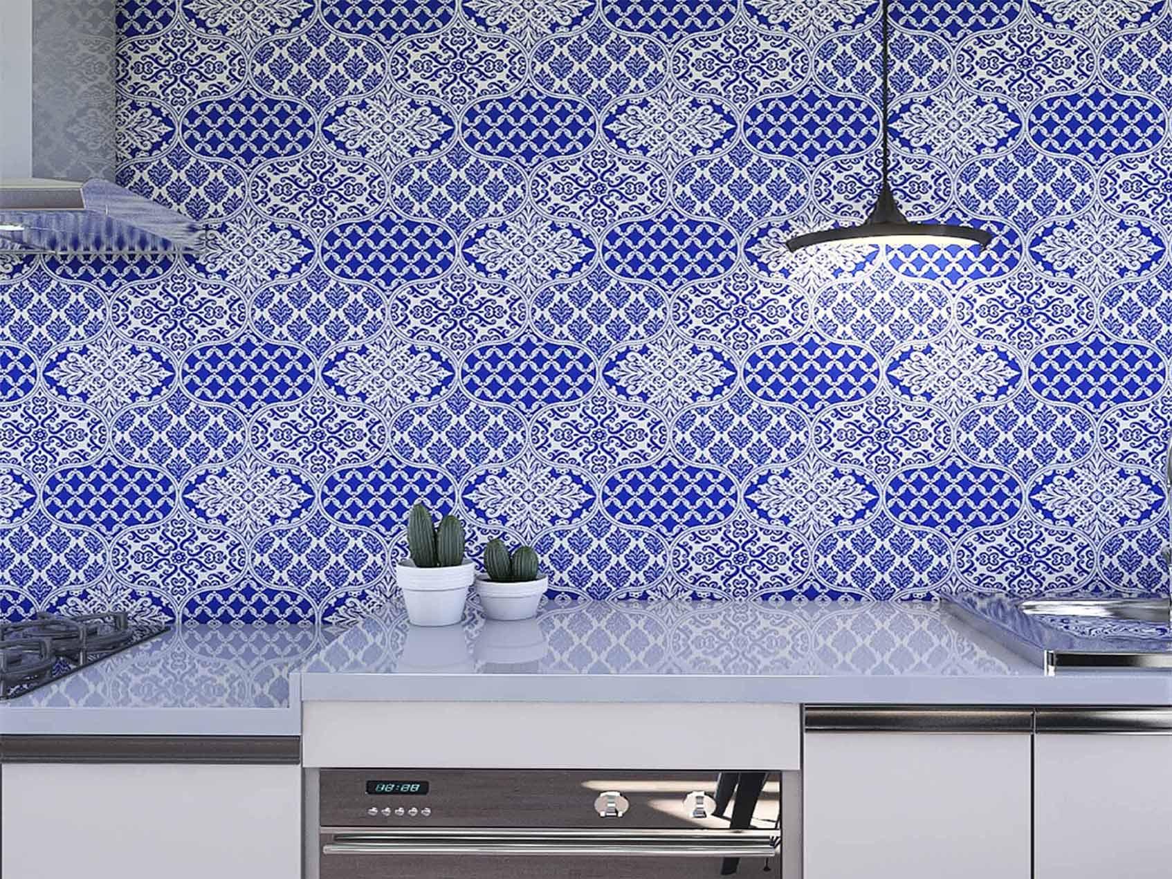 Papel de Parede para Cozinha Azulejos 0034 - Adesivos de Parede