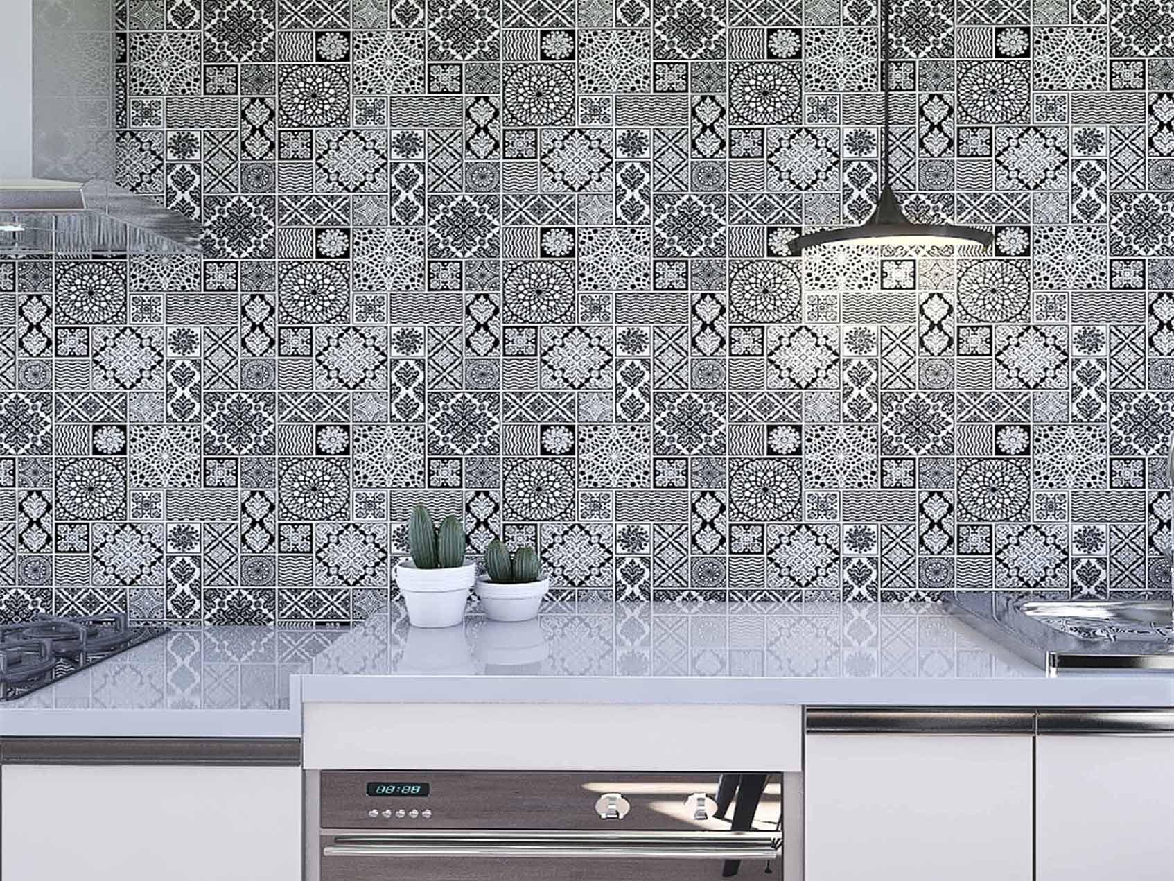 Papel de Parede para Cozinha Azulejos 0035 - Adesivos de Parede