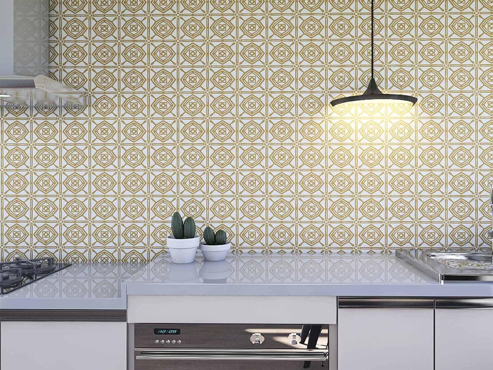 Papel de Parede para Cozinha Azulejos 0037 - Adesivos de Parede  - Paredes Decoradas