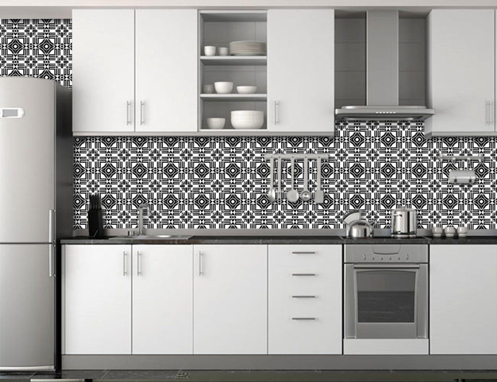 Papel de Parede para Cozinha Azulejos 0038 - Adesivos de Parede  - Paredes Decoradas