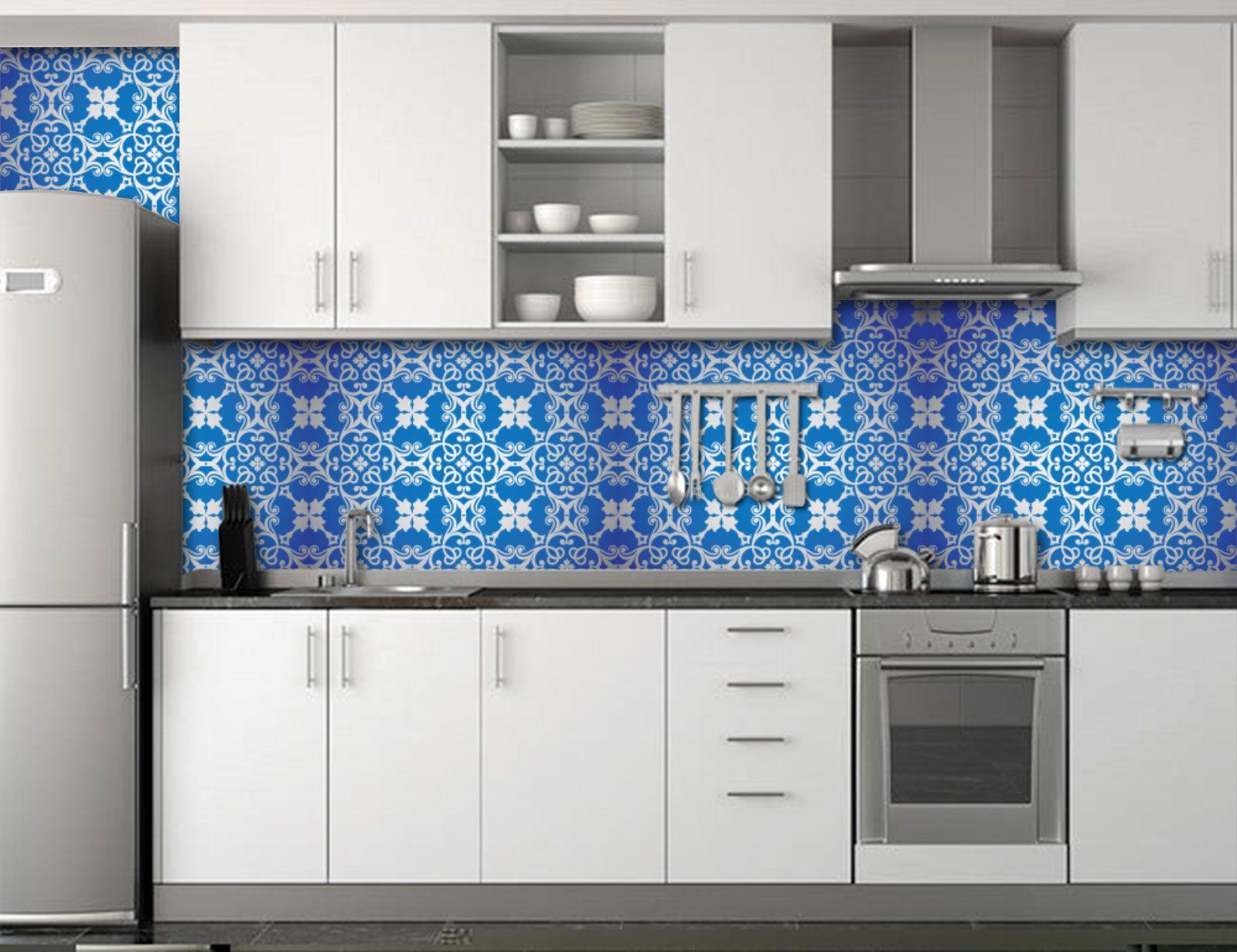 Papel de Parede para Cozinha Azulejos 0039 - Adesivos de Parede  - Paredes Decoradas