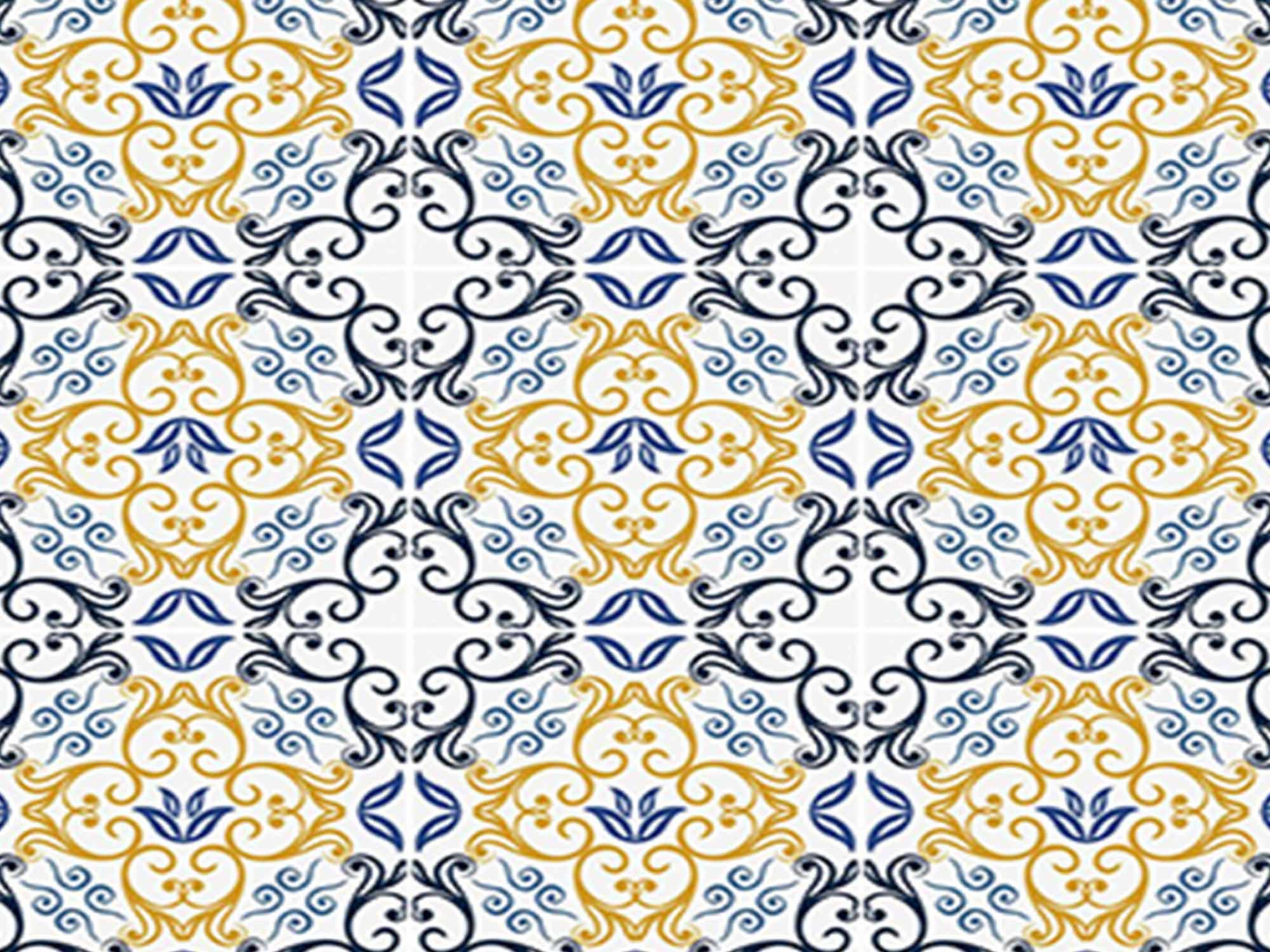 Papel de Parede para Cozinha Azulejos 0040 - Adesivos de Parede  - Paredes Decoradas