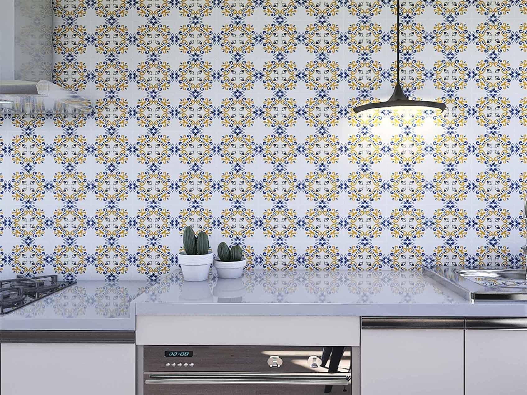 Papel de Parede para Cozinha Azulejos 0041 - Adesivos de Parede