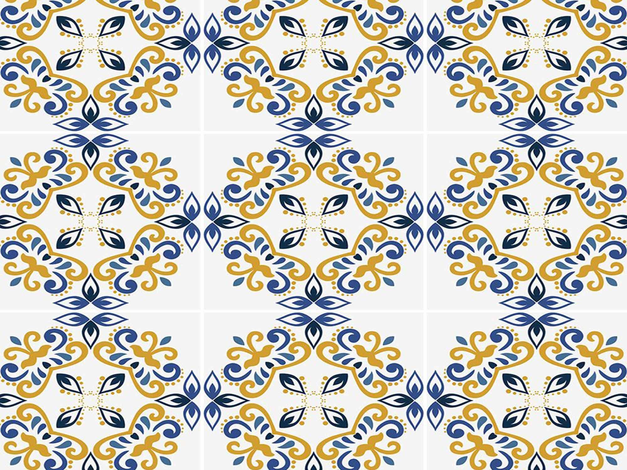 Papel de Parede para Cozinha Azulejos 0041 - Adesivos de Parede  - Paredes Decoradas
