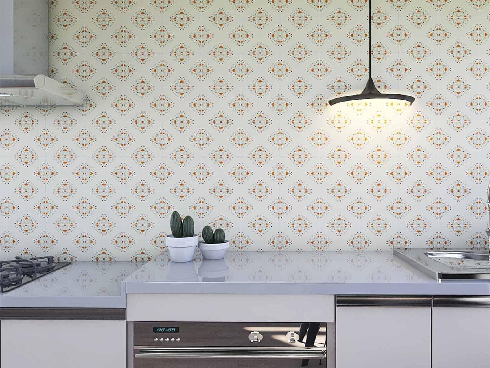 Papel de Parede para Cozinha Azulejos 0042 - Adesivos de Parede