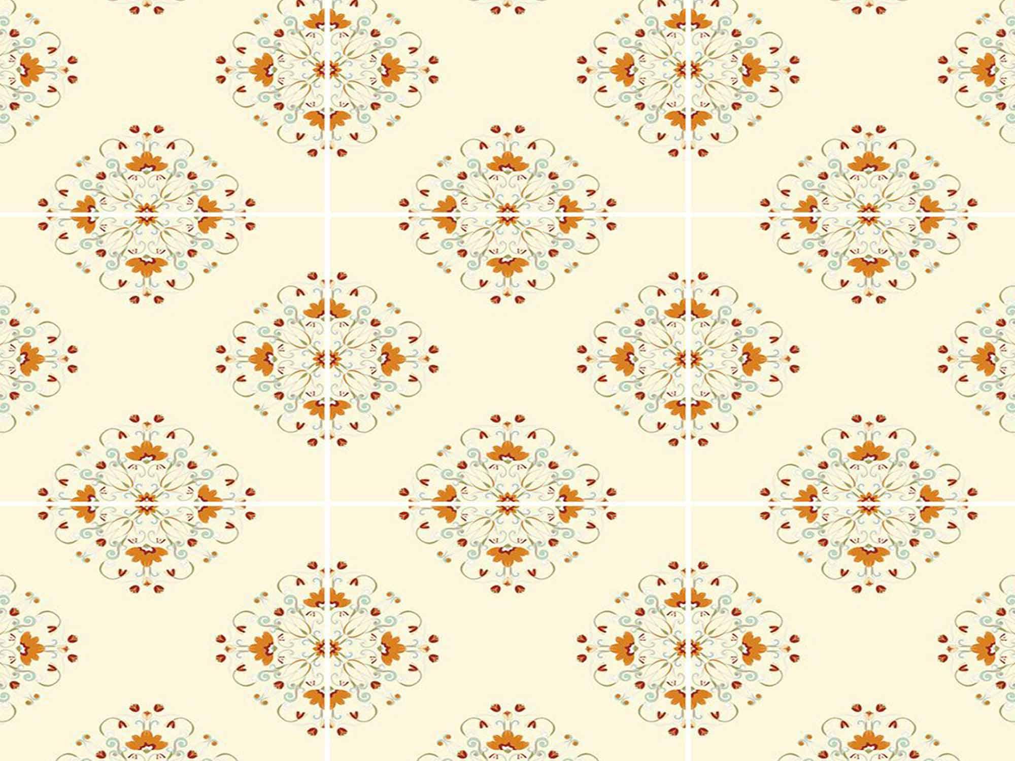 Papel de Parede para Cozinha Azulejos 0042 - Adesivos de Parede  - Paredes Decoradas