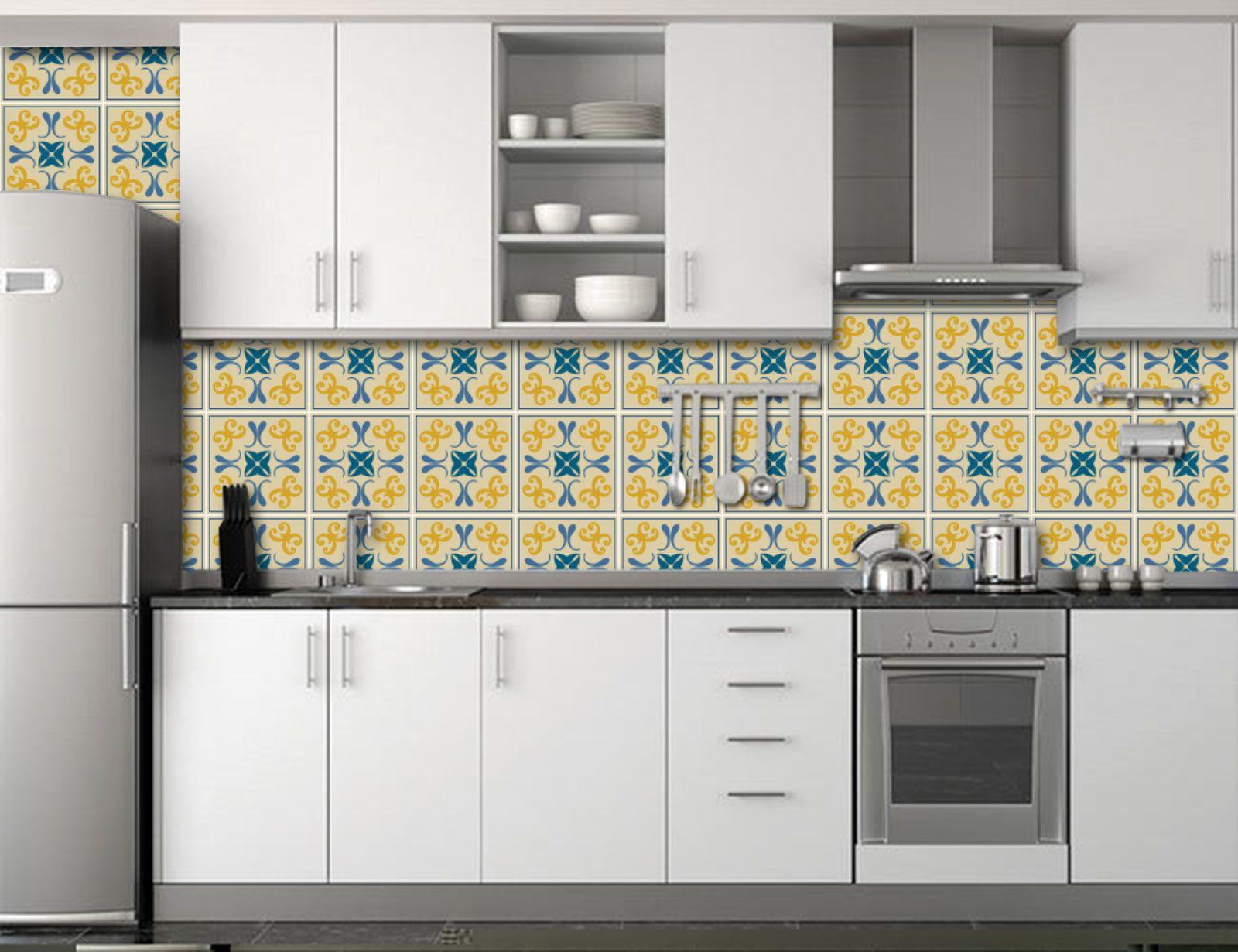 Papel de Parede para Cozinha Azulejos 0044 - Adesivos de Parede
