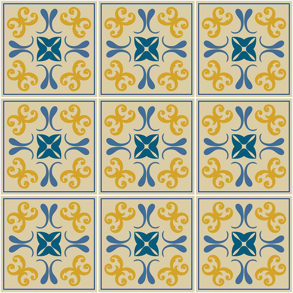 Papel de Parede para Cozinha Azulejos 0044 - Adesivos de Parede  - Paredes Decoradas