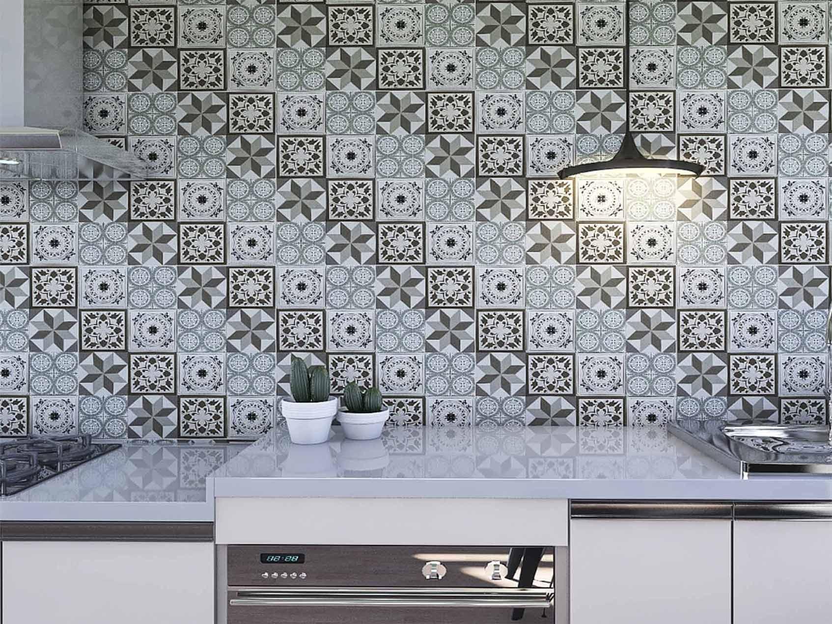 Papel de Parede para Cozinha Azulejos 0046 - PROMOÇÃO