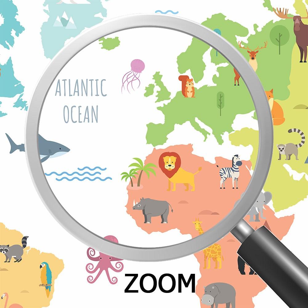 Papel de Parede para Quarto Adesivo 3D Mapa Mundi 0006  - Paredes Decoradas
