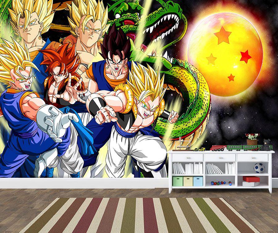 Papel De Parede para quarto Dragon Ball Z - 0001  - Paredes Decoradas