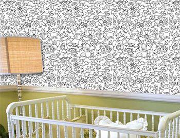 Papel de Parede para Quarto Infantil 0053 - Adesivos de Parede
