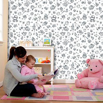 Papel de Parede para Quarto Infantil 0058 - Adesivos de Parede