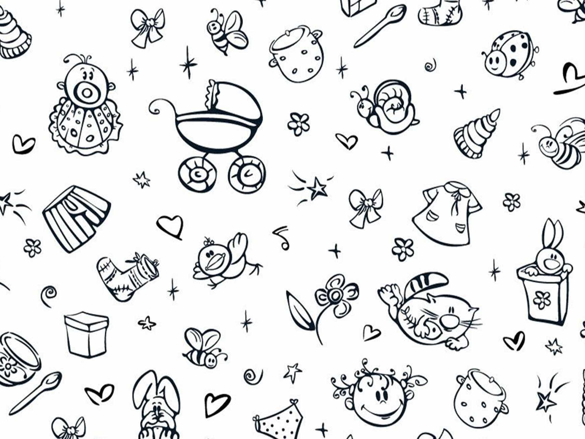 Papel de Parede para Quarto Infantil 0058 - Adesivos de Parede  - Paredes Decoradas