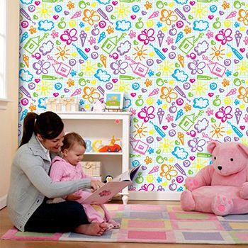Papel de Parede para Quarto Infantil 0059 - Adesivos de Parede