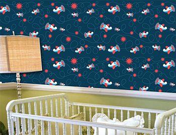 Papel de Parede para Quarto Infantil 0060 - Adesivos de Parede