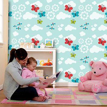 Papel de Parede para Quarto Infantil 0061 - Adesivos de Parede