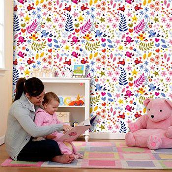 Papel de Parede para Quarto Infantil 0062 - Adesivos de Parede  - Paredes Decoradas