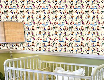 Papel de Parede para Quarto Infantil 0064 - Adesivos de Parede