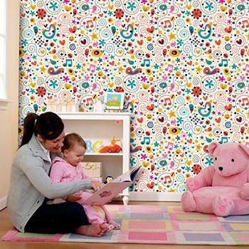 Papel de Parede para Quarto Infantil 0067 - Adesivos de Parede