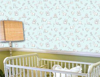 Papel de Parede para Quarto Infantil 0068 - Adesivos de Parede  - Paredes Decoradas