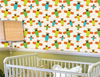 Papel de Parede para Quarto Infantil 0072 - Adesivos de Parede  - Paredes Decoradas