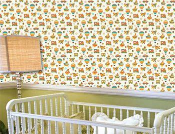 Papel de Parede para Quarto Infantil 0078 - Adesivos de Parede