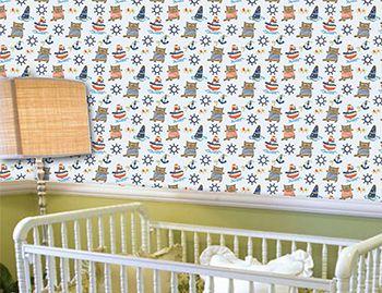 Papel de Parede para Quarto Infantil 0079 - Adesivos de Parede