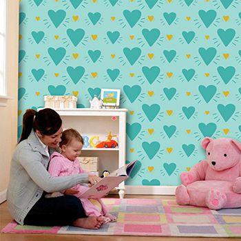 Papel de Parede para Quarto Infantil 0088 - Adesivos de Parede