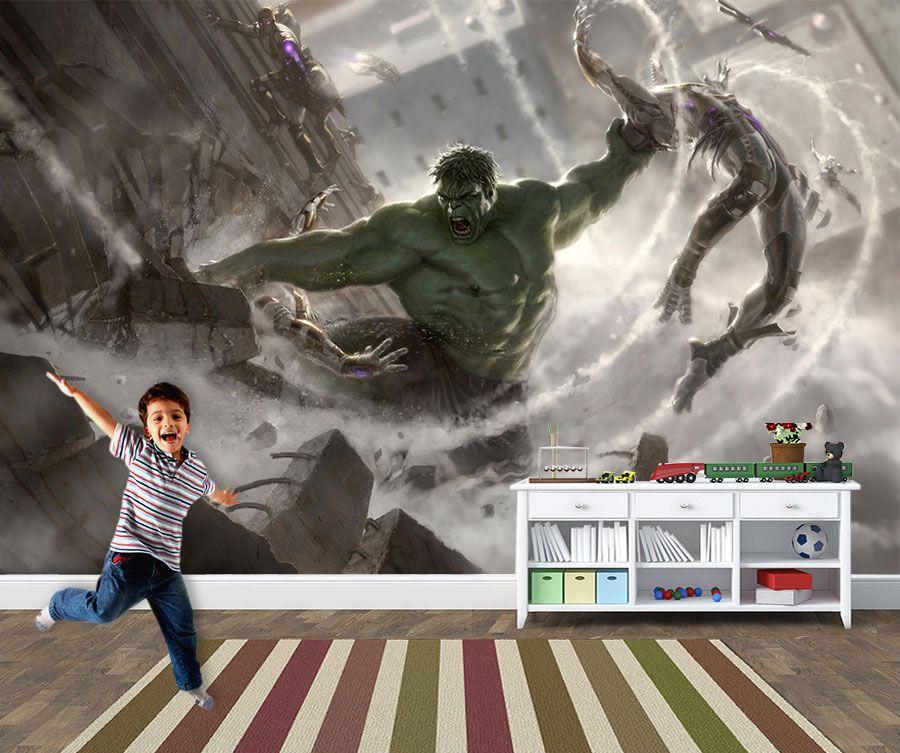 Papel de Parede para Quarto Infantil Super Heróis 0036  - Paredes Decoradas