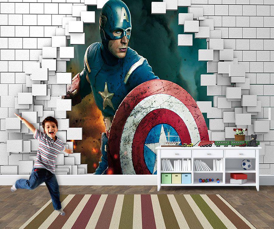 Papel de Parede para Quarto Infantil Super Heróis 0041